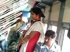 Tamil girl groping in train