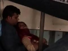 Honeymoon desi couple in train