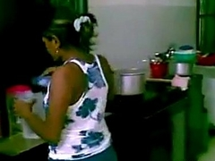 desi housewife encircling home owner