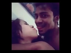 Assamese Hindu girl hot kiss and foreplay with bangladeshi muslim guy