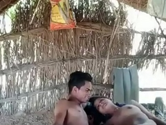 village couple in jungle